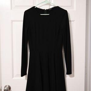 Theory long sleeve black dress